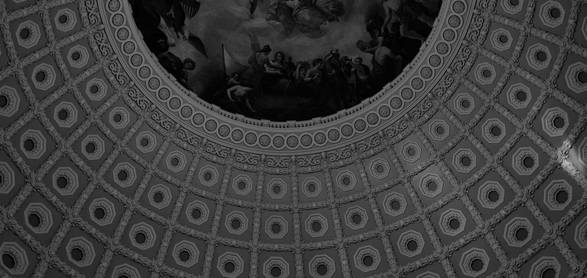 Capitol dome view from inside